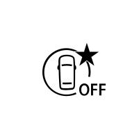 (Depending on vehicle) Indicator of failure or unavailability of active emergency braking