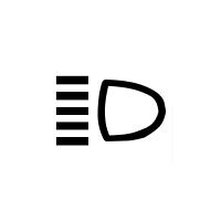 Main beam headlight telltale