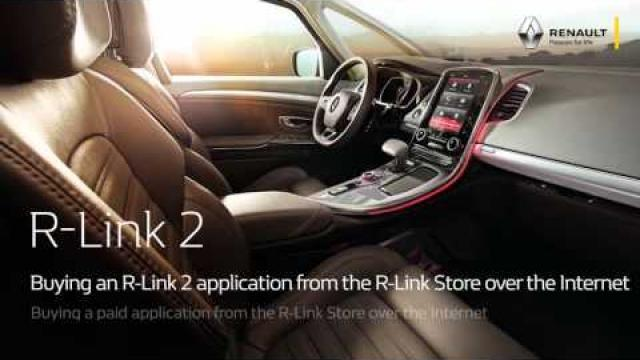 Buying a free application from the R-Link Store over the internet