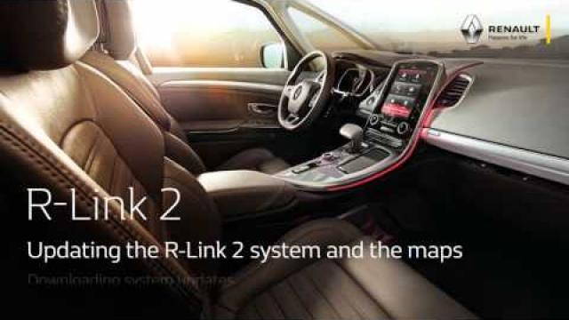 Updating the R-Link 2 system and the maps