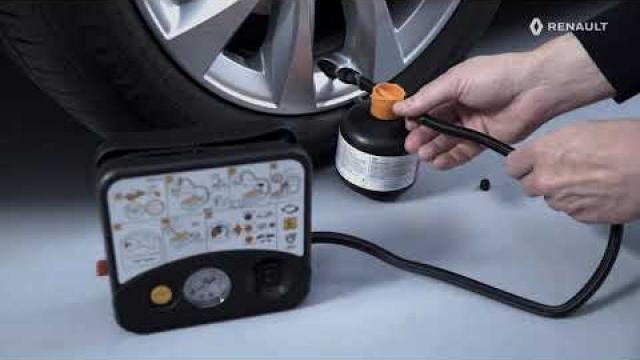 USING THE TYRE INFLATION KIT AND FITTING A SPARE WHEEL